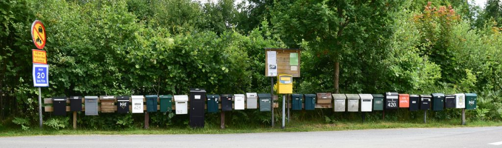 Postkastenbatterie