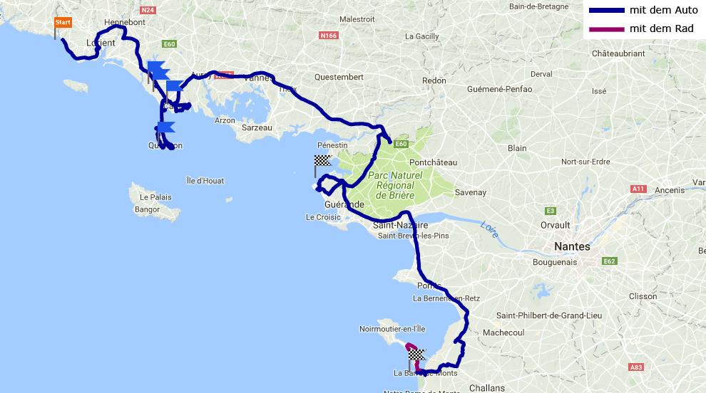 Tagesstrecke Port au Loup - Formentine